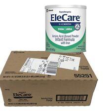 EleCare Infant Formula Hypoallergenic Powder 1 case 6 Cans EXP 1/1/2022
