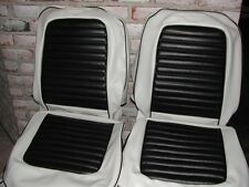 Mustang Custom Two Tone Seat Upholstery 1965-1968 for Front Buckets and Rear