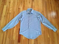 Vintage Manhattan Torque Lightweight Cotton Long Sleeve Button Down Shirt Euc