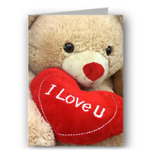 Cute Teddy Bear Greeting Card I Love You