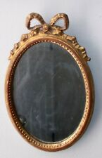 vtg WOOD CARVED Gilt Wall MIRROR Florence ITALY BOW KNOT Ribbon French  ROCOCO