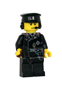 World War Axis Panzer Tank Commander Minifigure made with real LEGO(R) minifig