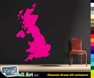 Britain UK Map with Pins Vinyl Wall Art Sticker Decal British Isles + FREE P&P