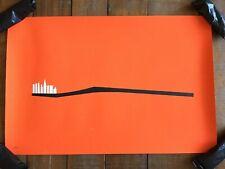 Chicago Art Print Olly Moss Minimalist poster 20/100 Dentist Toothbrush mondo