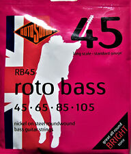 Rotosound Electric Bass Strings. Nickel Steel Roundwound. 45's Roto Bass. RB45