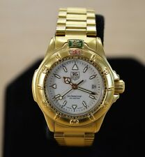 *Tag Heuer Professional 4000 994.708 Gold Tone Stainless Steel Ladies Watch +Box