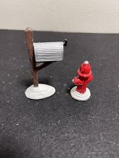 Dept 56 Snow Village Fire Hydrant and Mail Box #51322 Set of 2