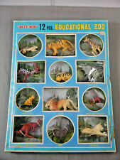 Blue-Box Educational Zoo 12 Animals Lion Tiger Elephant Ua Boxed No. 6001 F13