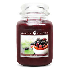 Goose Creek Premium Large Round Scented Candle Jar MULBERRY Double Wicked