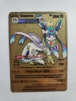 Omneon GX Metal Pokemon Card Custom Art Eevee