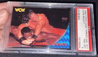 1998 Tops WCW Wrestling #17 Chris Benoit PSA 8 Rookie Card Pop 1 W 2 Higher!