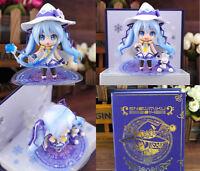 Anime Hatsune Miku Nendoroid Magia Snow Versión 10.2cm Figura Cara Chageable