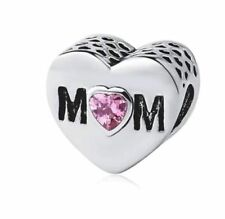 SILVER PLATED MUM HEART CHARM MUMMY MOTHER -BIRTHDAY GIFT MOTHERS DAY UK SELLER