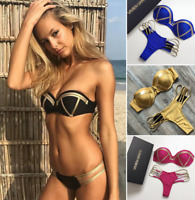2019 Women Swimwear Bandage Bikini Set Push-up Bra Bathing Suit Swimsuit Tankini