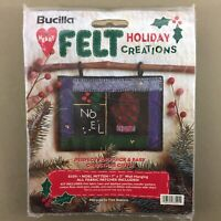"Bucilla Christmas Felt Holiday Creations Kit Noel Mitten 83591 wall hanging 7x5"""