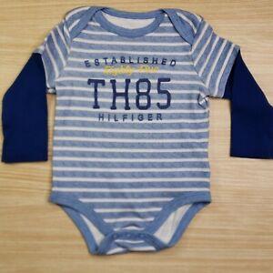Tommy Hilfiger Infant Boys Long Sleeve Bodysuit 6-9 Months