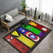 Marvel All Heroes Rugs Anti-Skid Area Rug Living Room Bedroom Floor Mat Carpet