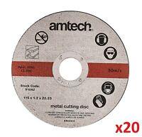 "20 x Ultra Thin Metal Cutting Discs 115mm 4.5"" 4 ½ "" Angle Grinder Slitting New"