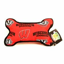 Wisconsin Badgers Squeeky Dog Bone Toy