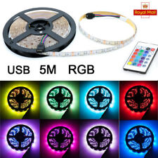5M SMD 5050 RGB LED Strip Light Colour Changing USB TV Back Mood Lighting Remote
