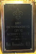 TV Prop Civic Award Plaque 1997 CBS Series ORLEANS - Cotter Smith Character