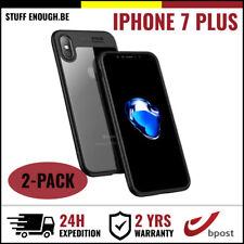 2IN1 AutoFocus Cover Cas Coque Etui Silicone Hoesje Case Black For iPhone 7 Plus