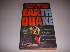 EARTHQUAKE by MILTON BERLE & JOHN ROEBURT, Crest Book #S414, 1st, 1960, PB!