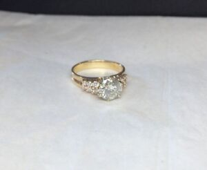 Estate Diamond Engagement Ring 1.30 Carat Size 6 3/4