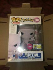SDCC 2020 Exclusive Funko Pop Pokemon Mewtwo Flocked Comic Con Sticker IN HAND