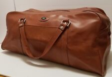 COTC Vintage Brown Vinyl Travel Luggage Overnight Bag with Handles