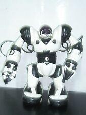 "2004 WOW WEE WHITE & BLACK ROBOSAPIEN 14"" ROBOT WORKS NO REMOTE"