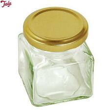 Tala Square Preserving Glass Jar With Gold Screw Top Lid 200Ml Kitchen Home New