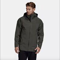 Adidas DZ1415 Myshelter 3in1 Rain Parka Men's Jacket $300, Large