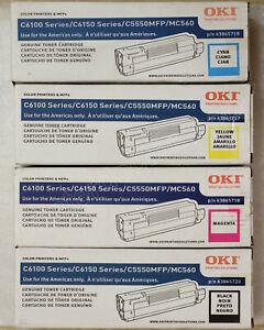Genuine Oki C6100, C6150 high capacity toner 43865717 43865718 43865719 43865720