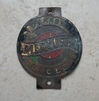 Cycles Mercury bicycle tube badge UK England bikes cycle vintage brass