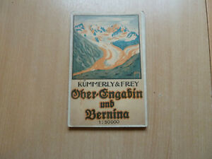 5 VINTAGE MAPS OF SWITZERLAND BY KUMMERLY & FREY AND 1 OTHER