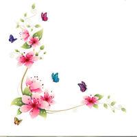 1pc Butterfly Flower Removable Home Wall Sticker Art Vinyl Mural Decor Decal ^D
