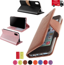 Leather Book Case PU Wallet Flip Phone Cover Apple IPhone XS Max XR X 8 7 6 5 4