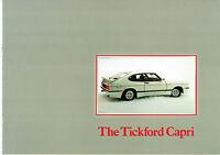 Ford Capri Tickford 2.8i Turbo Mk3 1983-84 UK Market Sales Brochure