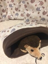 Brown Hedgehog Cotton- snuggle sack- small Bonding Bag - Hedgehog -guinea Pig