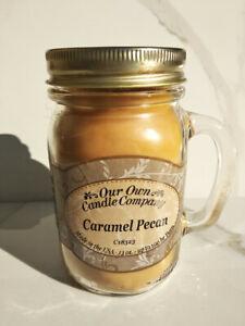 CANDELA PROFUMATA brucia +100 ORE aromatica stile yankee candle PECAN CARAMELLO