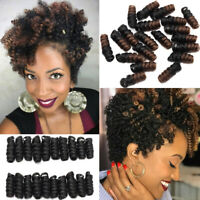 Afro Jamaican Bounce Curly Short Spring Twist Loops Crochet Hair Extensions US J
