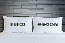 Pillowcases Bride and Groom Bedroom Bedding Adult Novelty Wedding Gift WSD754
