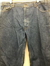 NWT VINTAGE LEATHER PATCH LEVI'S TWO HORSE MEDIUM WASH STRAIGHT LEG W46 L34 USA