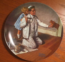 "1983 Norman Rockwell ""The Painter"" Collectors Plate Edwin M. Knowles With Coa"