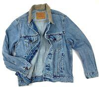 RARE Vintage Men's Levis USA Blue Cotton Denim Jacket Size S/M Casual