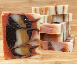 Luxury vegan handmade soap. 100% natural & gentle. Cedarwood oil & turmeric.