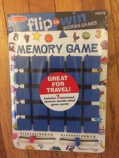MELISSA & DOUG FLIP TO WIN WOODEN GAMES MEMORY BOARD - TRAVEL - NEW - SEALED