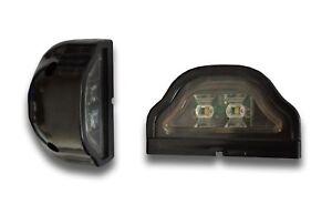 2x 12V LED BLACK REAR MARKER TAIL LIGHTS NUMBER PLATE TRUCK MOTORHOME CAMPER VAN