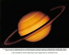 NASA Photographic Card Print of Saturn taken by Voyager 2 by Earth 2000 Ltd 2002